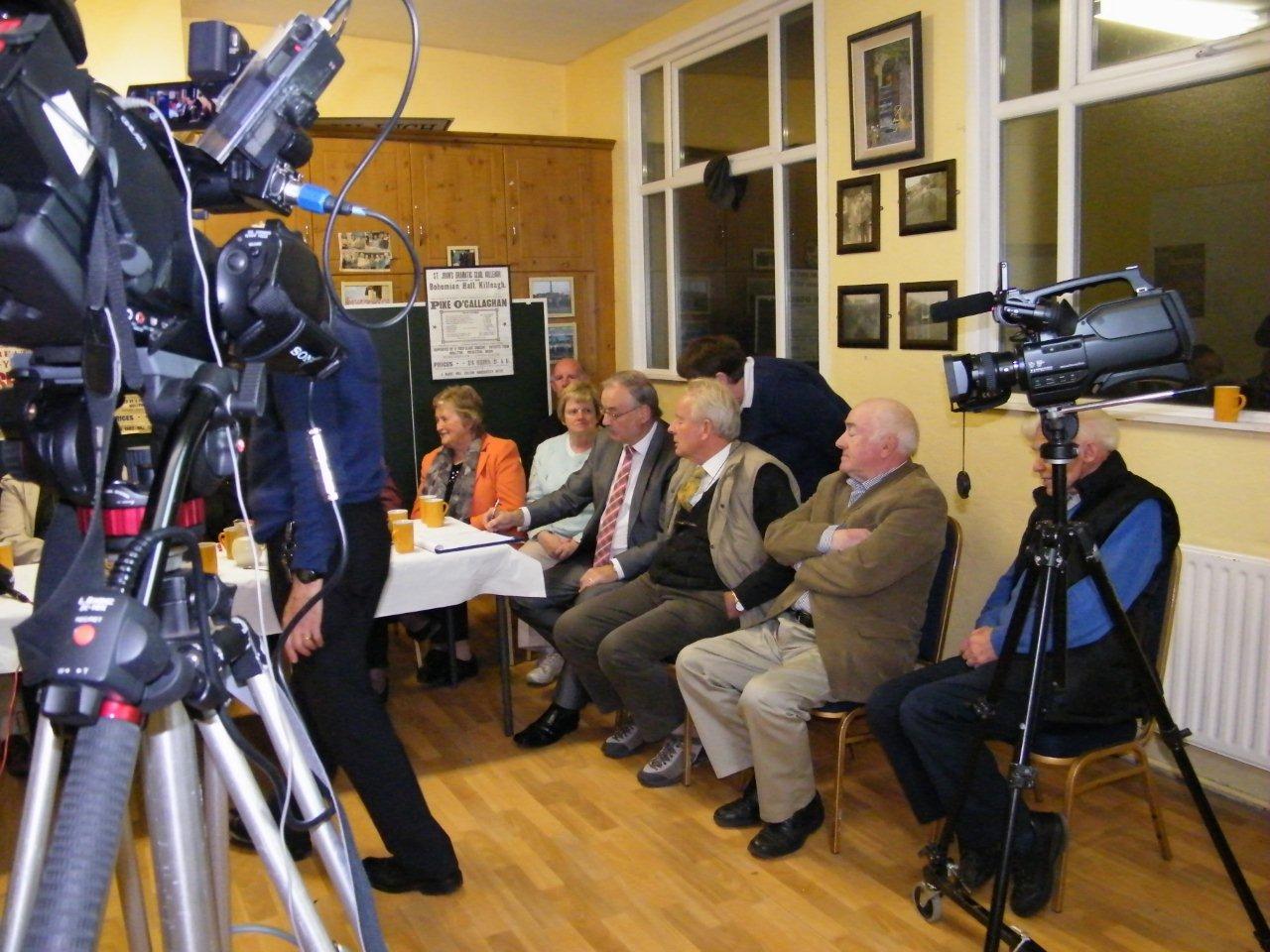 Recording session in Killeagh Community Hall